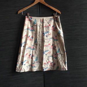 Boden beach 🏖 summer print a-line skirt